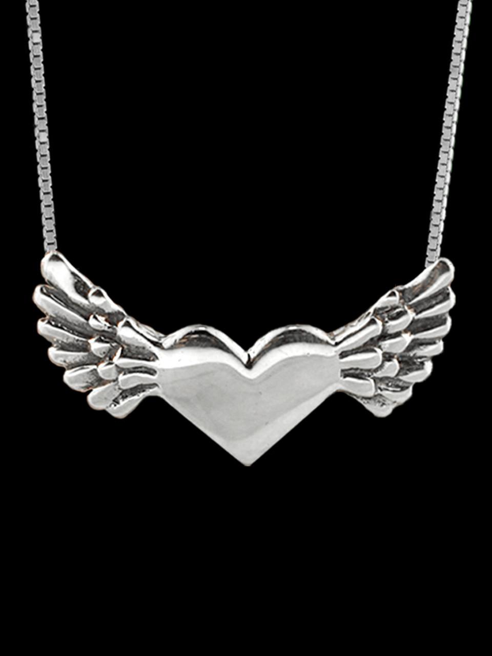 Hearts angel heart pendant jewelry hearts angel heart pendant silver aloadofball Choice Image
