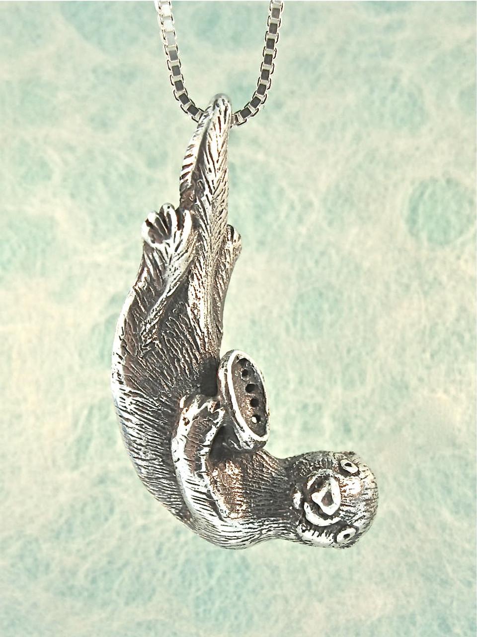 Sea life sea otter pendant jewelry sea life sea otter pendant silver aloadofball Image collections