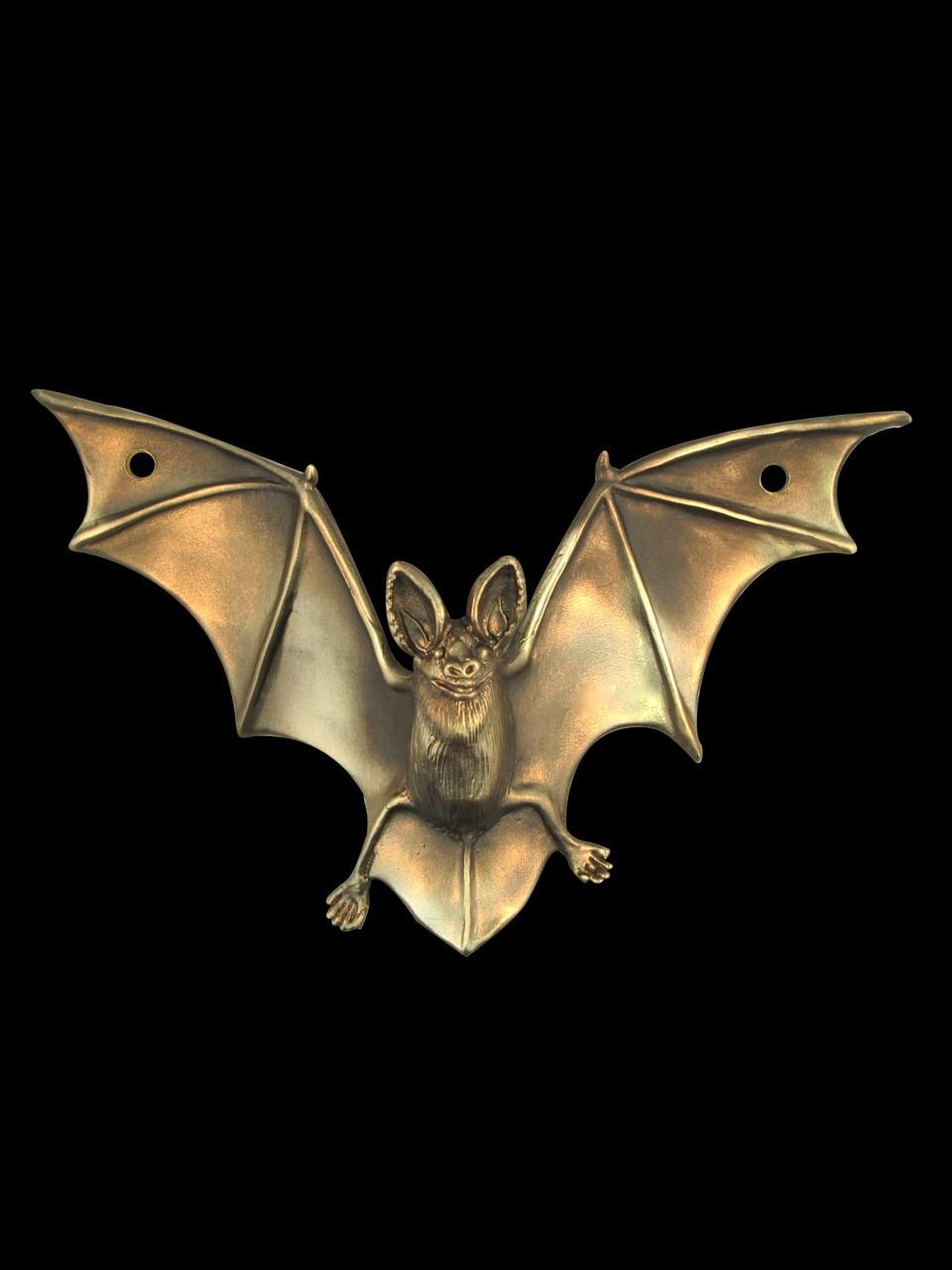 Bat Drawer Pull Sculpture - Bronze - Marty Magic Store