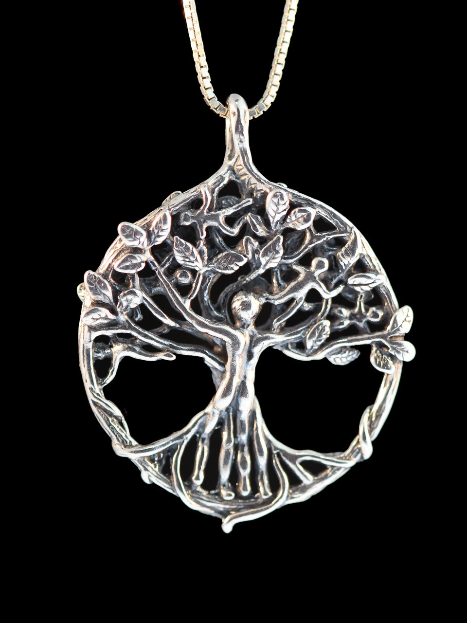 views more name family necklace sterling silver the pendant tree engraved
