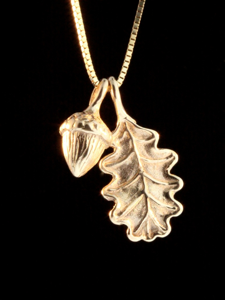 Gold oak leaf and acorn charms 14k gold marty magic store 14k gold oak leaf acorn charms aloadofball Choice Image