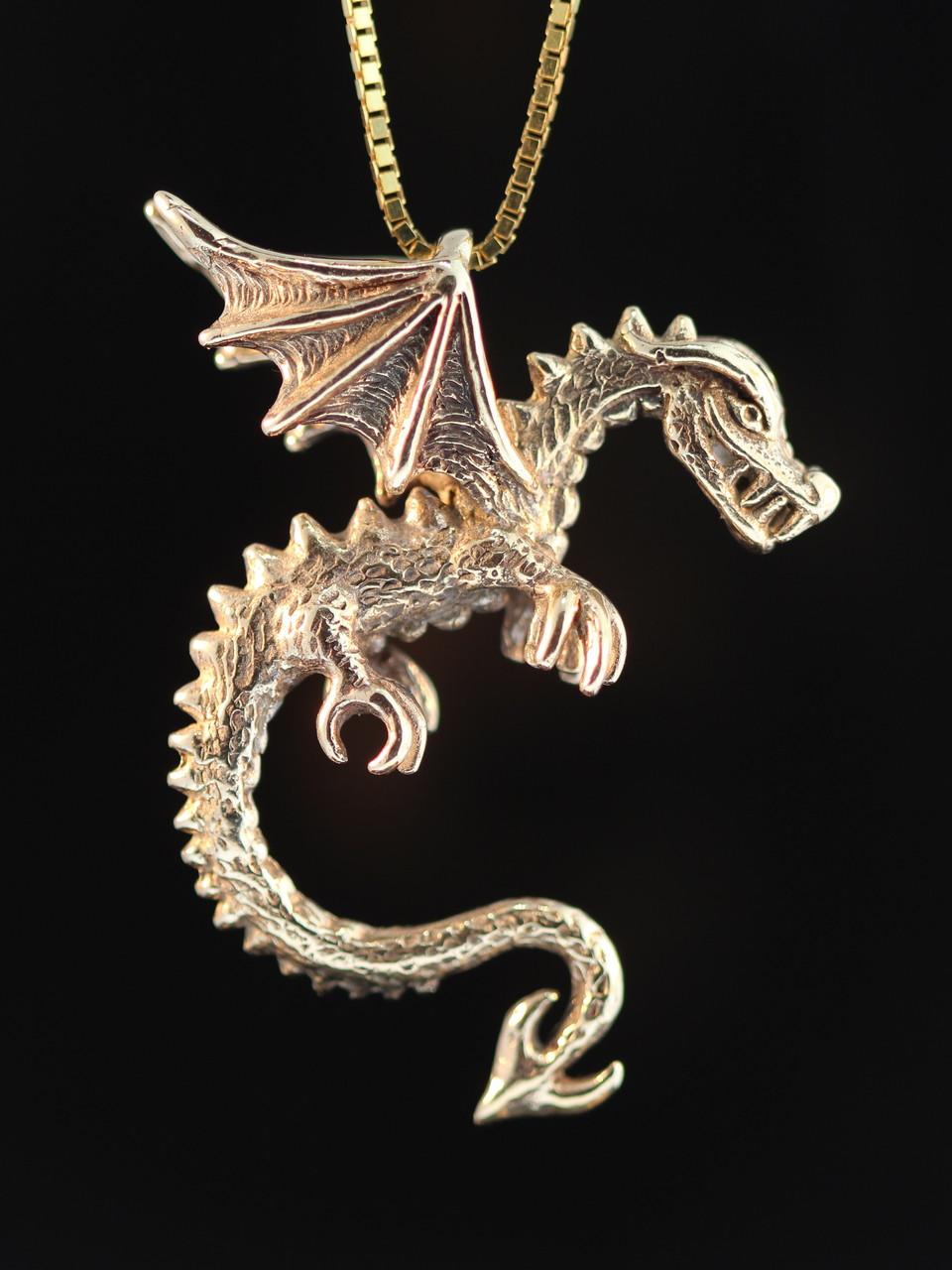 Gold dragon spike the dragon pendant 14k gold marty magic store gold dragon spike the dragon pendant 14k gold aloadofball Choice Image