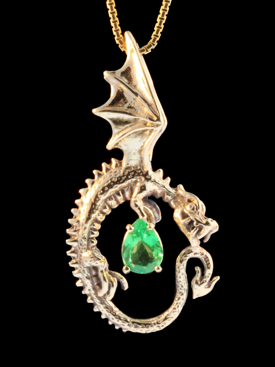Oracle dragon pendant with one carat tsavorite 14k gold marty oracle dragon pendant with one carat tsavorite 14k gold aloadofball Gallery