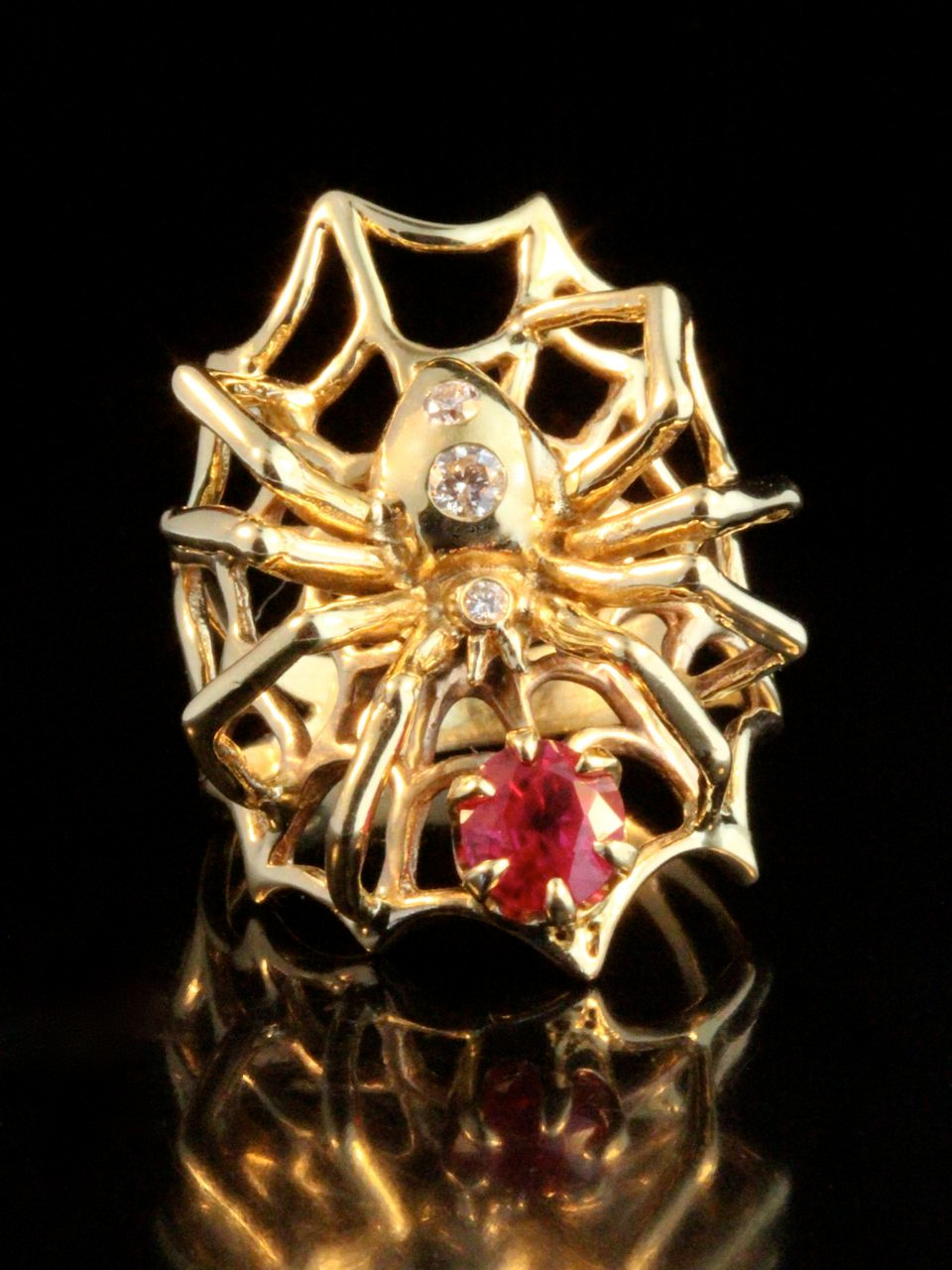 Spider Ring With Rubies Jewelry
