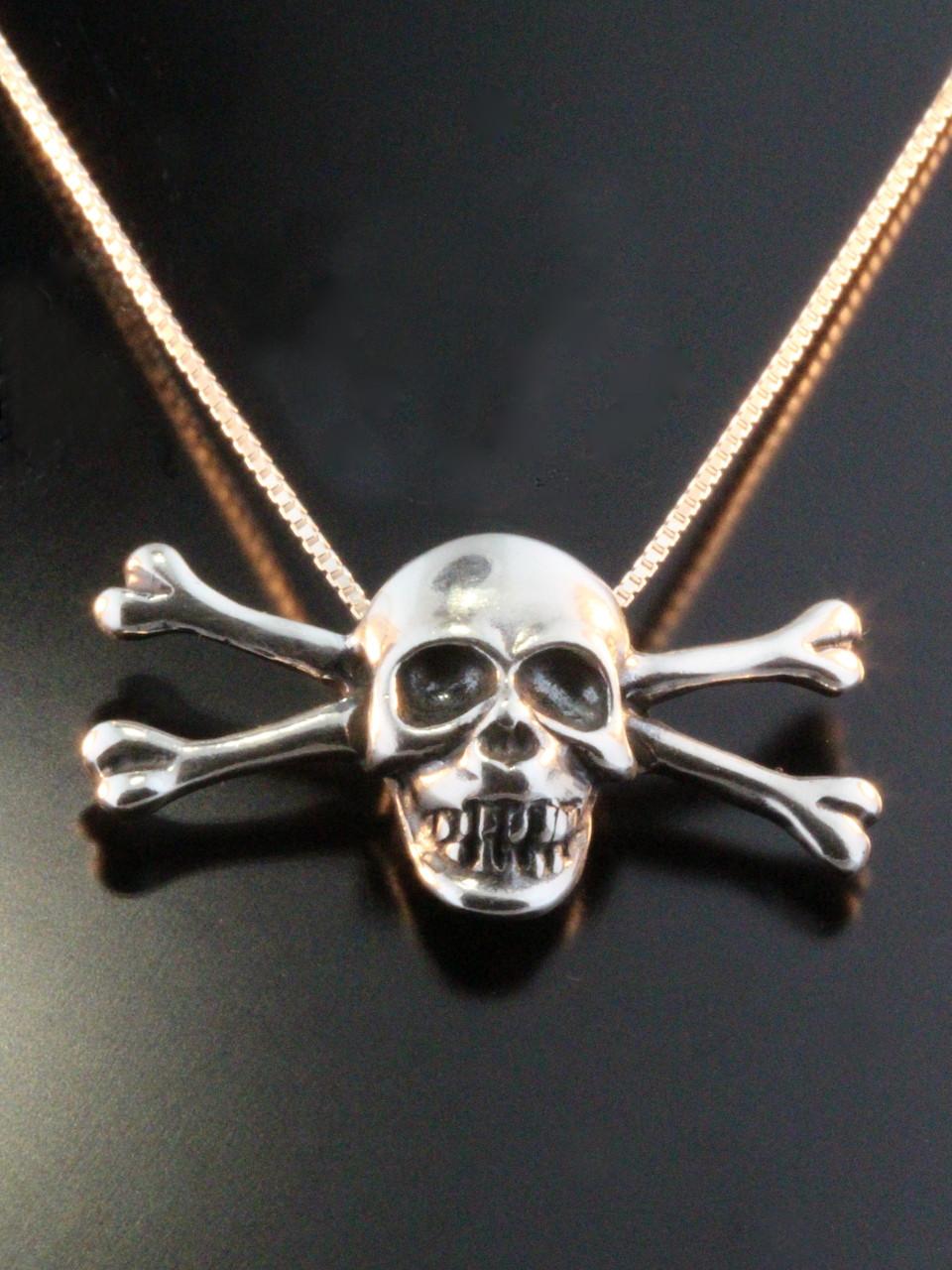 Pirate skull and crossbone pendant jewelry pirate skull and crossbone pendant silver aloadofball Gallery