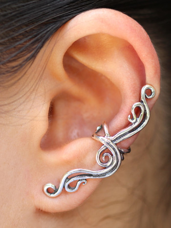 French Twist Ear Cuff - Silver