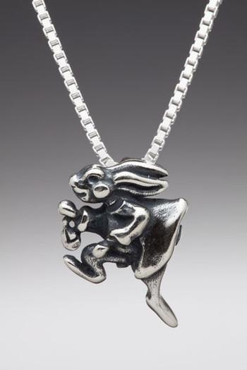 Alice - White Rabbit Charm - Silver