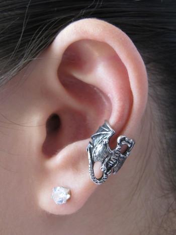 Pewter Dragon Ear Cuff