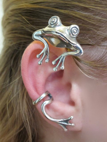 Curious Frog Ear Wrap Silver