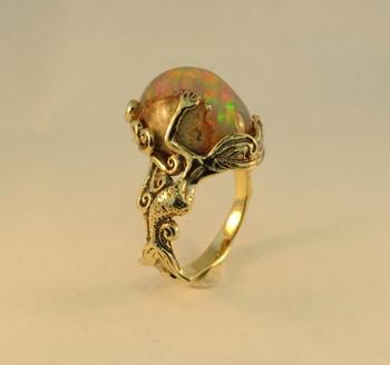 Sunrise Mermaid Opal Ring - SOLD