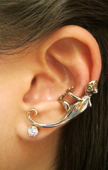 Gecko Ear Climber Cuff - Bronze