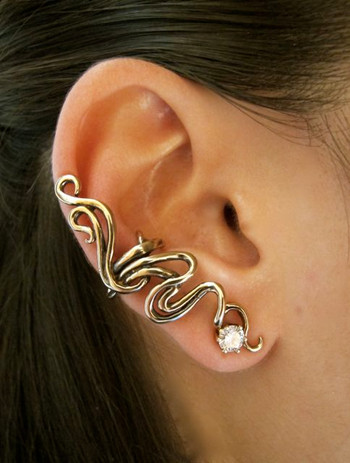 Spiro Ear Cuff Bronze