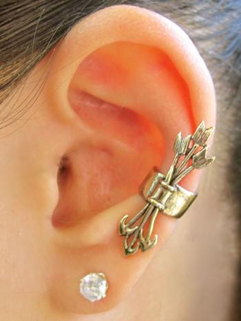 Quiver and Arrows Ear Cuff - Bronze