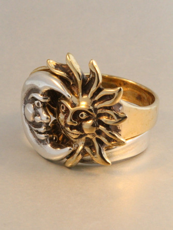 Sun Moon Eclipse Ring Bronze And Silver Version Marty