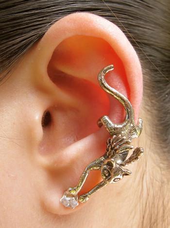 Angel Kitty Ear Cuff - Bronze