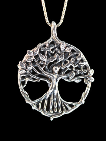 Circle of Life Tree Pendant - Silver