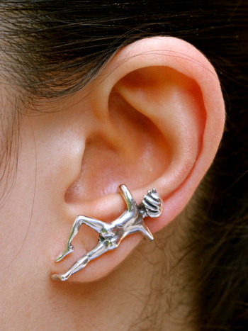Ear Man Ear Cuff Sterling Silver