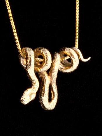 Vine snake pendant 14k gold marty magic store 14k gold vine snake pendant aloadofball Images