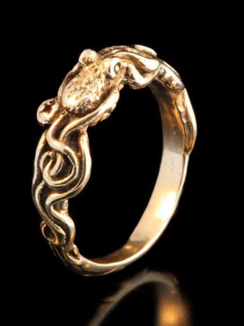 Tentacle Twist Octopus Ring - 14k Gold