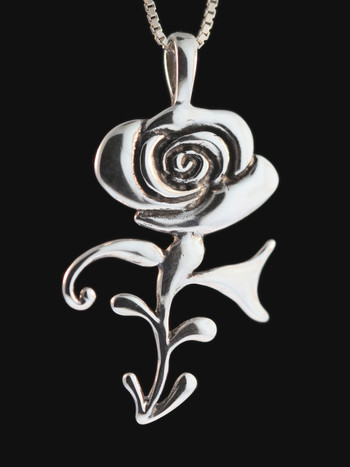 Rose Symbol Pendant Silver Sold Out Marty Magic Store