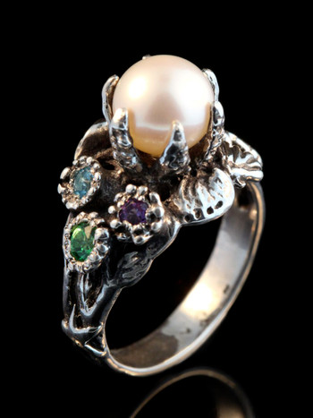 Atlantis Treasure Ring with Gemstones