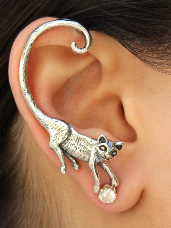 Cat's Meow Ear Wrap - Silver