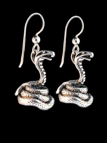 Coiled Cobra Earrings