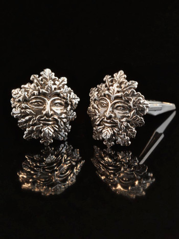 Green Man Cuff Links