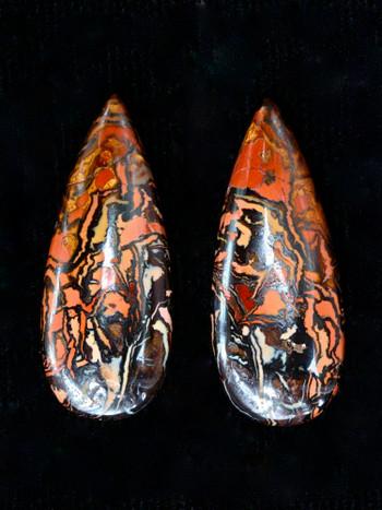 Inferno - Pair of Australian Koroit boulder Opals