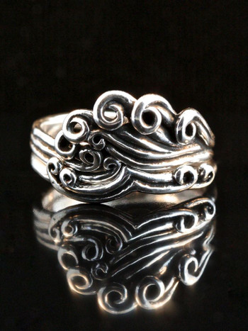 Wave Crest Ring - Two Part Set