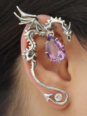 Classic Dragon Ear Wrap with Amethyst