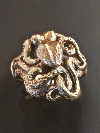 Octopus Ring in 14K Gold