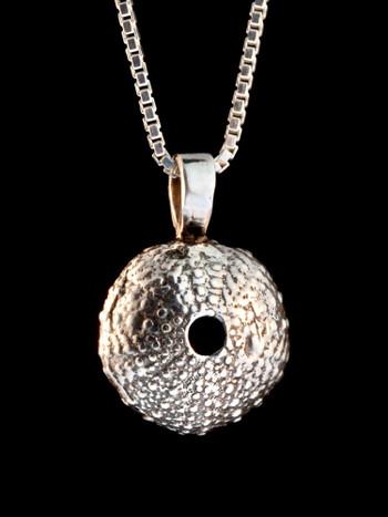 Sea Urchin Charm in Silver