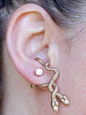 Eden Serpent Ear Hoop in Bronze