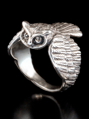 Owl Ring -  Silver