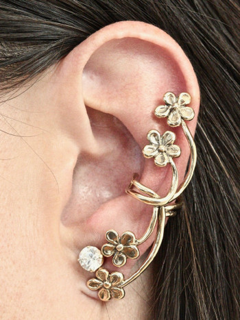 Forget Me Not Ear Cuff - 14K Gold