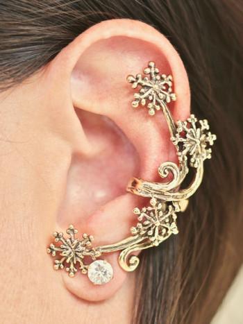 Starburst Ear Cuff - 14K Gold