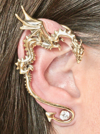 Classic Dragon Ear Wrap - 14K Gold