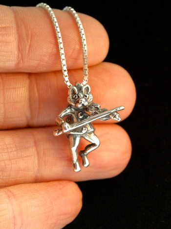 Mother Goose Cat And The Fiddle Charm Jewelry
