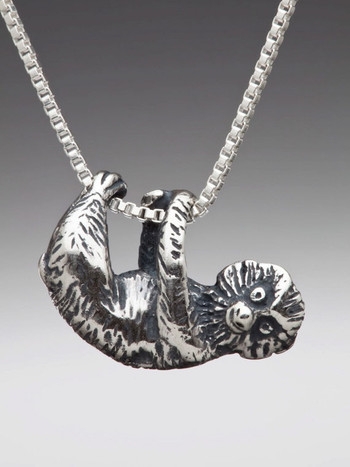 Tree Sloth Charm in Silver
