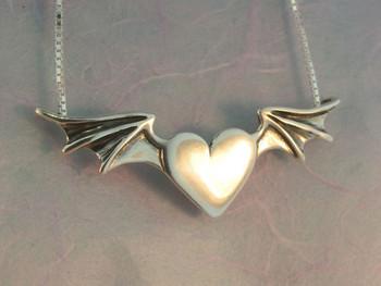 Hearts bat winged heart pendant jewelry hearts bat winged heart pendant silver aloadofball Gallery