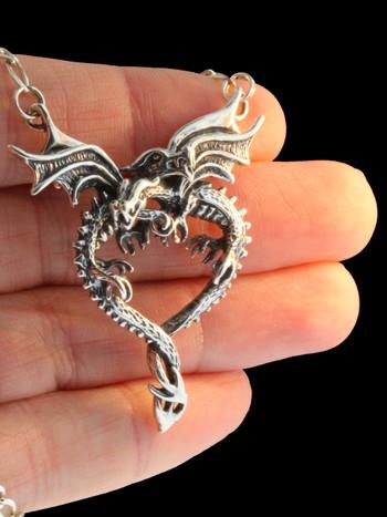 Dragon heart pendant with figero chain jewelry dragon heart pendant with figero chain mozeypictures Gallery