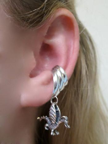 Baby Dragon Ear Cuff Chevron