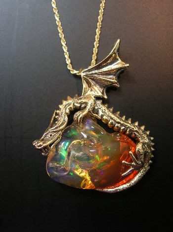 Sunrise dragon pendant with mexican fire opal sold jewelry sunrise dragon pendant with mexican fire opal sold aloadofball Choice Image