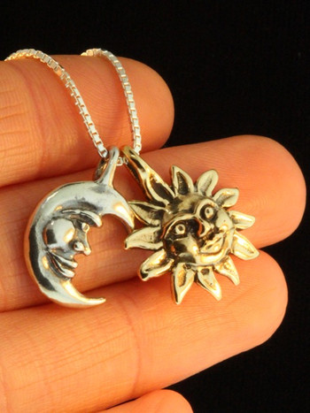 Eclipse Pendant in Gold and Silver