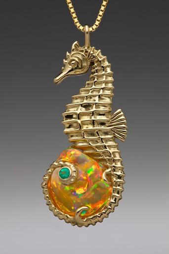 Sea Horse Opal Treasure Pendant Jewelry