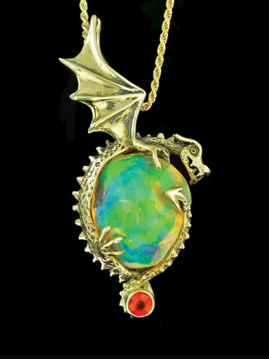 Aurora Borealis Fire Dragon Jewelry
