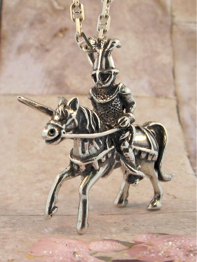 Fantasy knight in shining armor pendant jewelry aloadofball Image collections