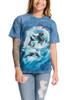 Orca Wave T-Shirt Modeled