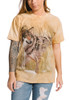 Winter Wolf Portrait T-Shirt Modeled